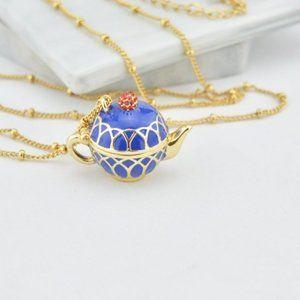 Kate Spade Enamel Enamel Teapot Necklace